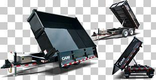Trailer Car Dump Truck Heavy Machinery Tow Hitch PNG