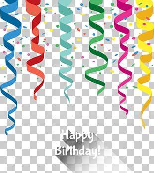 Birthday Ribbon Greeting Card Carte Danniversaire PNG
