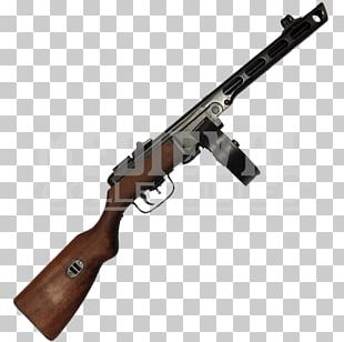 Second World War PPSh-41 Thompson Submachine Gun Firearm PNG