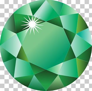 Birthstone Emerald May Diamond Gemstone PNG