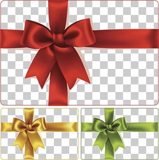 The Heart Of Christmas Gift Ribbon Illustration PNG