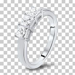 Princess Cut Ring Diamond Cut Brilliant PNG