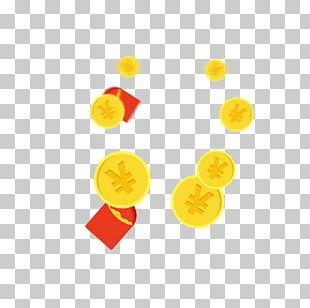 Red Envelope Gold Coin PNG