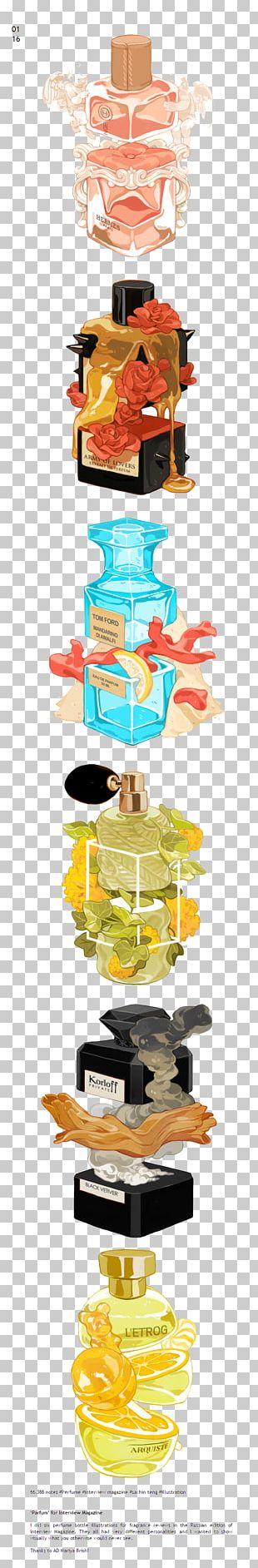 Bottle Perfume Illustration PNG