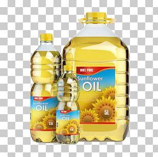 Sunflower Oil Vegetable Oil Cooking Oil Bottle PNG