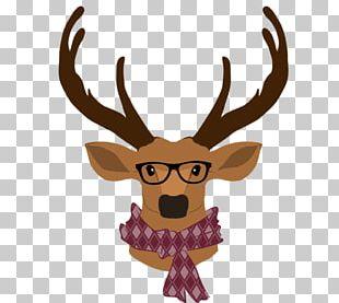 Reindeer T-shirt Hipster Top PNG
