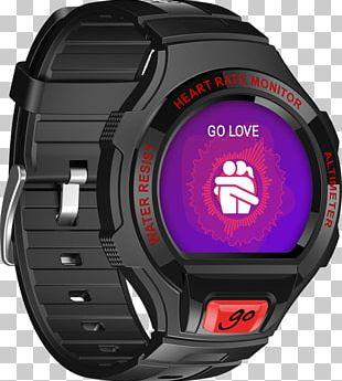 Alcatel GO WATCH Alcatel Mobile Smartwatch Alcatel OneTouch Smart Watch SM02 Black/Red PNG