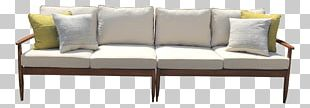 Loveseat Sofa Bed Couch Mid-century Modern Danish Modern PNG