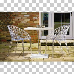 Table Chair Plastic Bistro Sunlounger PNG