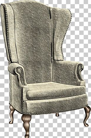 Wing Chair Fainting Couch Furniture PNG