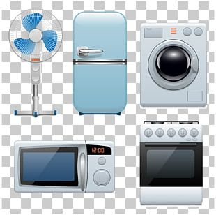 Home Appliance Refrigerator Microwave Ovens Graphic Design PNG