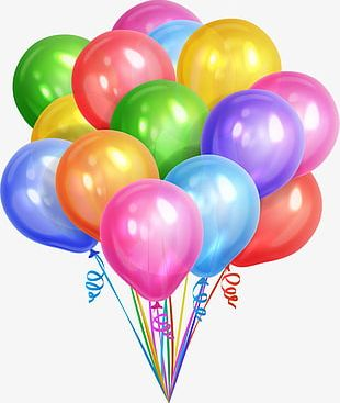 Colorful Dream Balloons PNG
