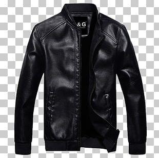 Leather Jacket Coat Slim-fit Pants PNG