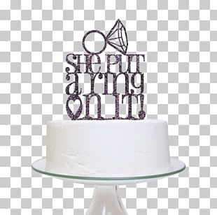 Wedding Cake Topper Engagement PNG