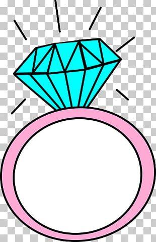 Engagement Ring Wedding Ring Drawing PNG