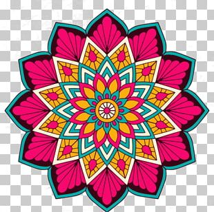 Coloring Mandalas Of Flowers Exploring Color Hinduism Buddhism PNG