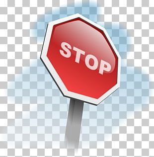 Stop Sign Traffic Sign Cartoon PNG
