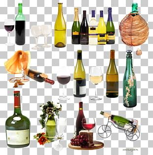 Wine Champagne Bottle PNG