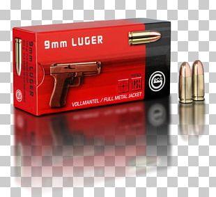 9×19mm Parabellum Full Metal Jacket Bullet Ammunition Cartridge .38 Special PNG