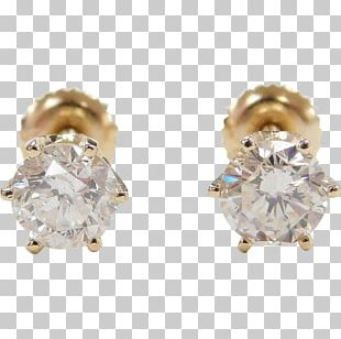 Earring Body Jewellery Estate Jewelry Gold PNG