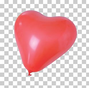 Toy Balloon Red Heart Gas PNG