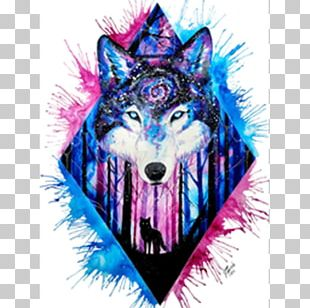 Gray Wolf Watercolor Painting Drawing Printmaking PNG