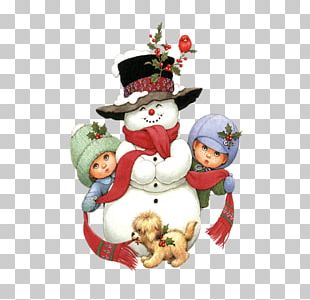 Santa Claus Puppy Snowman Christmas PNG
