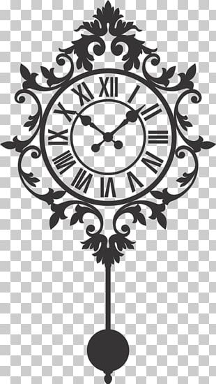Clock Graphics Wall Decal Silhouette PNG