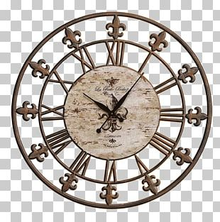 Clock Metal Wall Wrought Iron PNG