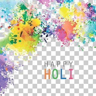 India Holi Illustration PNG