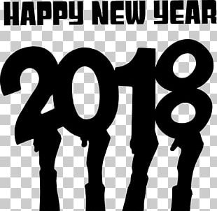 Happy New Year 2018 Hands PNG