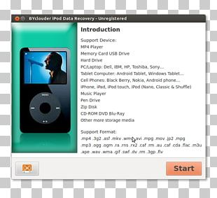 IPod Media Player Data Recovery Multimedia PNG