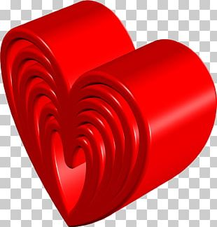 Red Heart Love Valentine's Day PNG