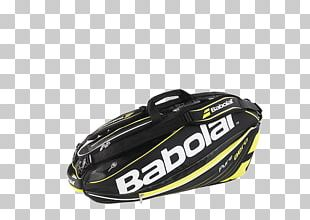 Babolat Pure Aero Racket Holder X6 (Black/Yellow) Protective Gear In Sports Bag Product Design PNG