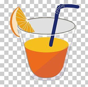 Orange Drink Orange Juice Harvey Wallbanger Cocktail Garnish PNG