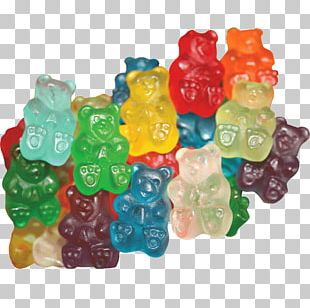 Gummi Candy Gummy Bear Chocolate Bar Gelatin Dessert Cupcake PNG