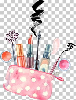 Cosmetics Watercolor Painting Make-up Artist Drawing PNG