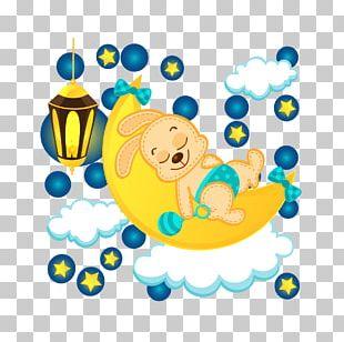 Cartoon Fantasy Moon Star PNG
