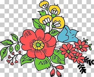 Cut Flowers Floral Design Art Drawing PNG