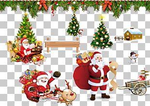 Santa Claus Christmas Card Greeting Card Text PNG