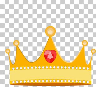 Cartoon Princess Crown Material PNG