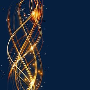 Gold Line Light Effect PNG