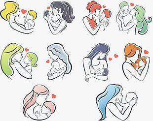 Simple Warm Maternal Logo PNG
