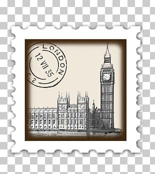 Stamp Place London Postage Stamps Mail Rubber Stamp PNG