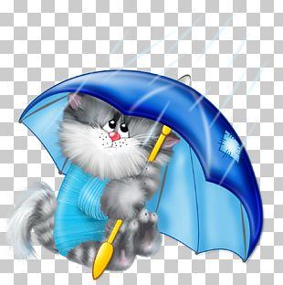 Cat Kitten Umbrella Cartoon Stock Photography PNG