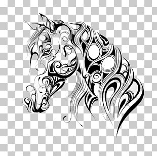 American Quarter Horse Mustang Silhouette Horse Head Mask PNG