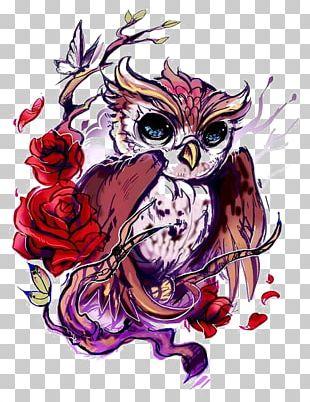 Owl Tattoo Artist Rose Flash PNG