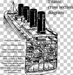 Wiring Diagram Cross Section Cutaway Drawing RMS Titanic PNG