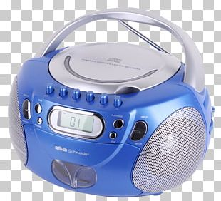 Radio Boombox Purple Blue Compact Disc PNG