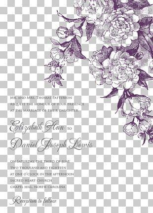 Wedding Invitation Floral Design Paper Flower Bouquet PNG